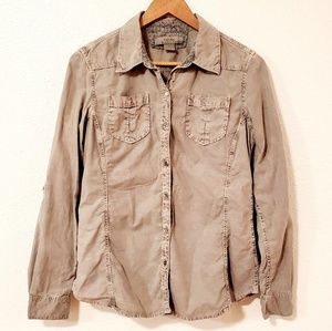 Natural Reflections Gray Button Down Long Sleeves